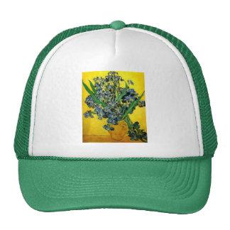 Van Gogh Irises Mesh Hats