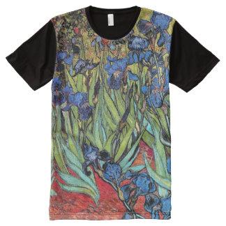 Van Gogh Irises Impressionism Classic Art Garden All-Over-Print T-Shirt