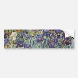 Van Gogh Irises Impressionist Flowers Bumper Sticker