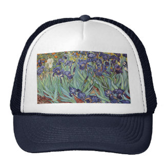 Van Gogh Irises Impressionist Flowers Mesh Hat