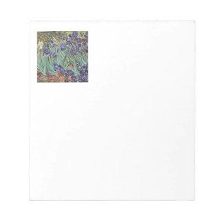 Van Gogh Irises Impressionist Flowers Notepad