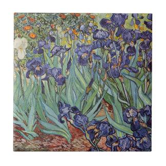 Van Gogh Irises Impressionist Flowers Tile