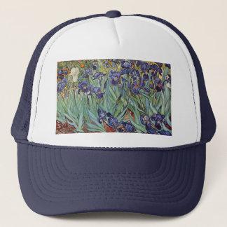 Van Gogh Irises Impressionist Flowers Trucker Hat