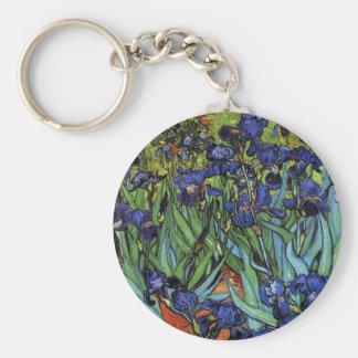 Van Gogh Irises Key Chain