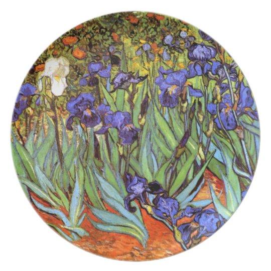 Van Gogh: Irises Melamine Plate