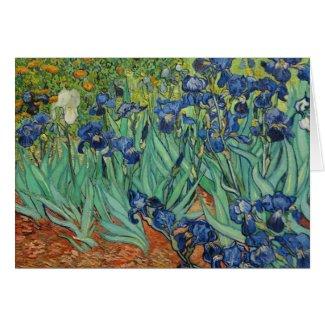Van Gogh Irises , Notecard