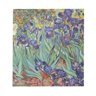 Van Gogh Irises Notepad