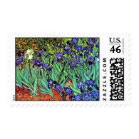 Van Gogh Irises Postage Stamp
