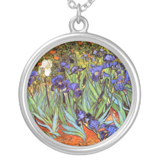 Van Gogh: Irises Silver Plated Necklace