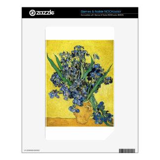 Van Gogh Irises Skin For NOOK Color