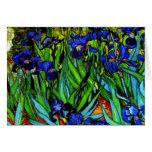 Van Gogh - Irises, Vincent Van Gogh painting Card