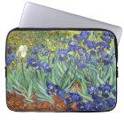 Van Gogh Irises Vintage Fine Art Floral Laptop Sleeve