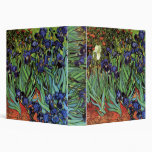 Van Gogh Irises, Vintage Garden Fine Art 3 Ring Binder