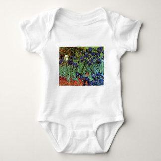 Van Gogh Irises, Vintage Garden Fine Art Baby Bodysuit