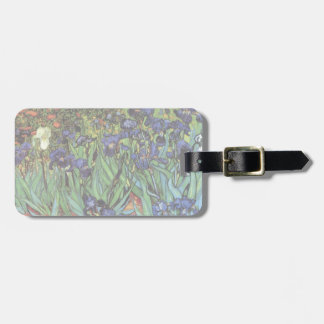Van Gogh Irises, Vintage Garden Fine Art Bag Tag