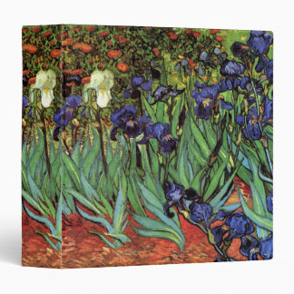 Van Gogh Irises, Vintage Garden Fine Art Binder