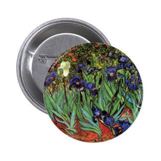 Van Gogh Irises, Vintage Garden Fine Art Button