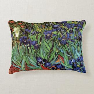 Van Gogh Irises, Vintage Garden Fine Art Decorative Pillow