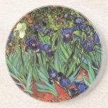 Van Gogh Irises, Vintage Garden Fine Art Drink Coaster