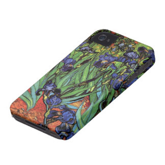 Van Gogh Irises, Vintage Garden Fine Art iPhone 4 Case