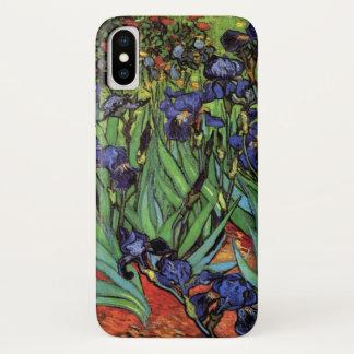 Van Gogh Irises, Vintage Garden Fine Art iPhone X Case