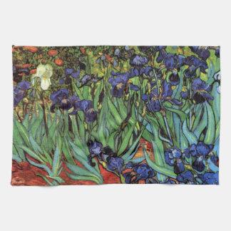 Van Gogh Irises, Vintage Garden Fine Art Kitchen Towel