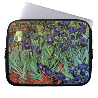 Van Gogh Irises, Vintage Garden Fine Art Laptop Sleeve