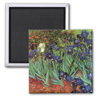 Van Gogh Irises, Vintage Garden Fine Art Magnet