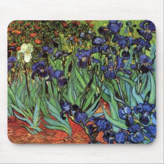 Van Gogh Irises, Vintage Garden Fine Art Mouse Pad