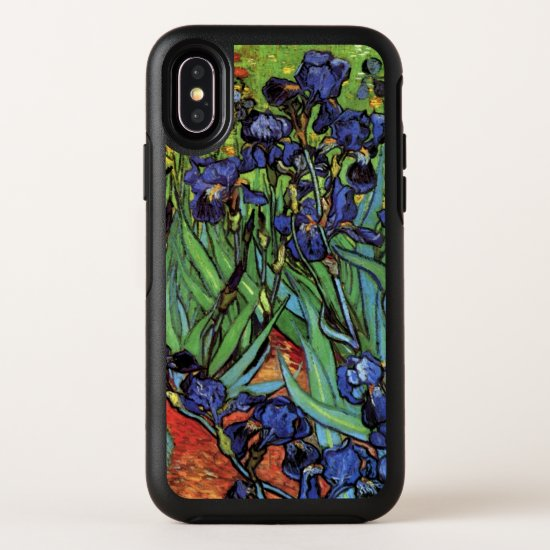 Van Gogh Irises, Vintage Garden Fine Art OtterBox Symmetry iPhone X Case