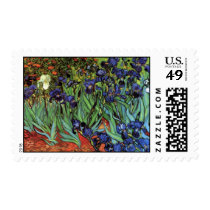 Van Gogh Irises, Vintage Garden Fine Art Postage
