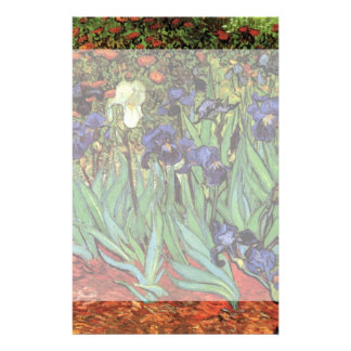 Van Gogh Irises, Vintage Garden Fine Art Stationery