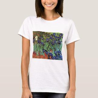 Van Gogh Irises, Vintage Garden Fine Art T-Shirt