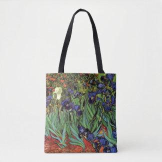 Van Gogh Irises, Vintage Garden Fine Art Tote Bag