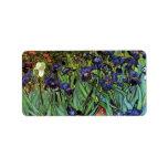 Van Gogh Irises, Vintage Post Impressionism Art Address Label