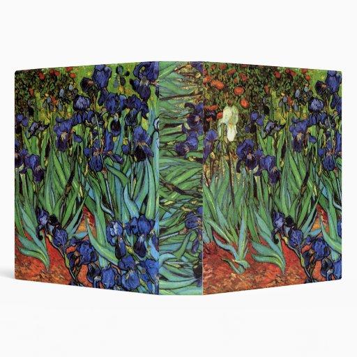 Van Gogh Irises, Vintage Post Impressionism Art Vinyl Binders
