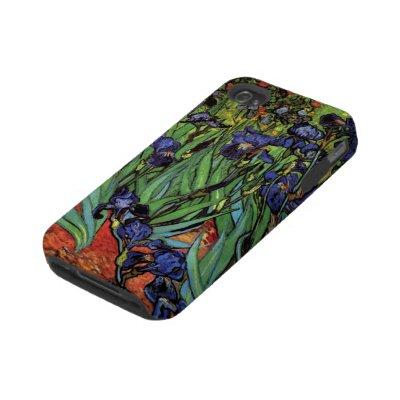 Van Gogh Irises, Vintage Post Impressionism Art Tough Iphone 4 Covers