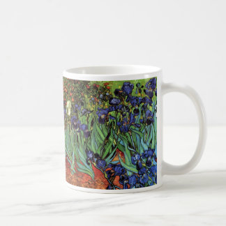 Van Gogh Irises, Vintage Post Impressionism Art Classic White Coffee Mug