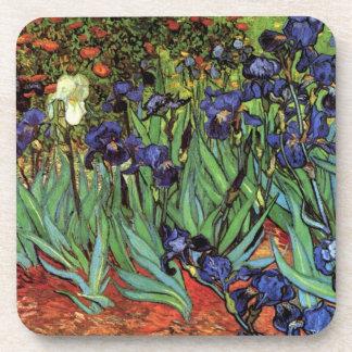 Van Gogh Irises, Vintage Post Impressionism Art Coasters