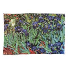 Van Gogh Irises, Vintage Post Impressionism Art Kitchen Towels