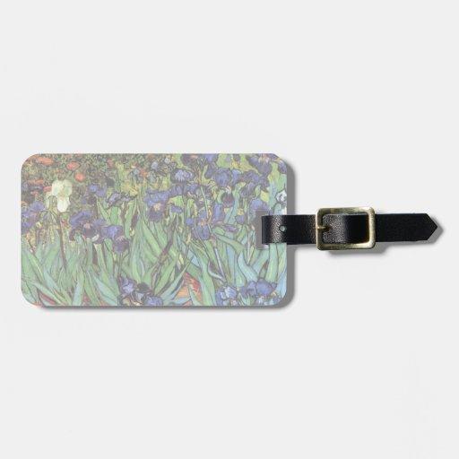 Van Gogh Irises, Vintage Post Impressionism Art Bag Tags