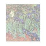 Van Gogh Irises, Vintage Post Impressionism Art Notepad