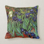 Van Gogh Irises, Vintage Post Impressionism Art Pillows