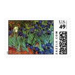 Van Gogh Irises, Vintage Post Impressionism Art Stamp
