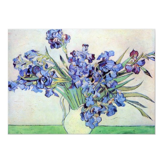 Van Gogh Irises Wedding Invitation