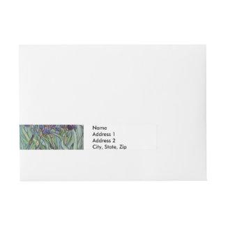 Van Gogh Irises Wrap Around Address Label