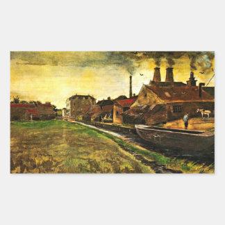 Van Gogh Iron Mill in The Hague Vintage Business Sticker