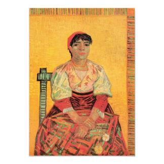 Van Gogh, Italian Woman, Vintage Portrait Art Card