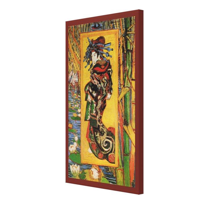 Van Gogh Japanese Courtesan Oiran Vintage Portrait Canvas Print Zazzle Com