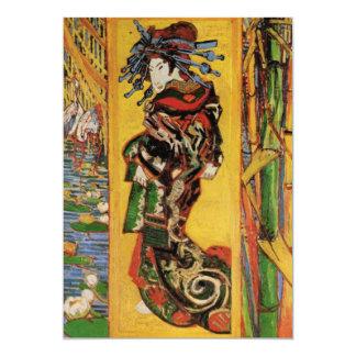 Van Gogh Japanese Courtesan Oiran Vintage Portrait 5x7 Paper Invitation Card